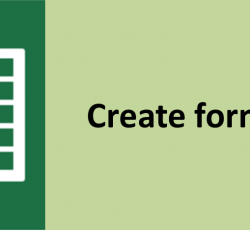 Create form in excel with just few clicks